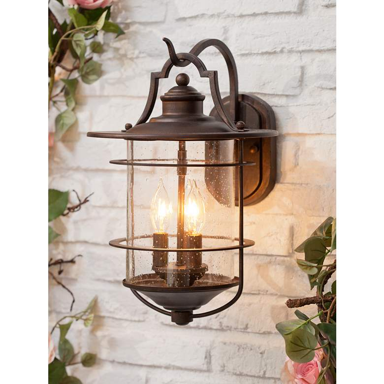 "Casa Mirada 16 1/4"" High Bronze 3-Light Outdoor"