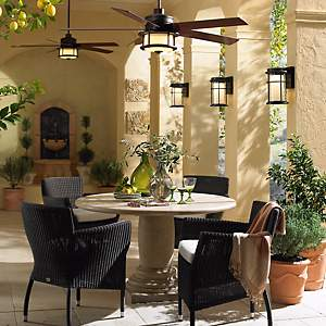 Get That Mediterranean Feel With Fans Fountains And Foliage
