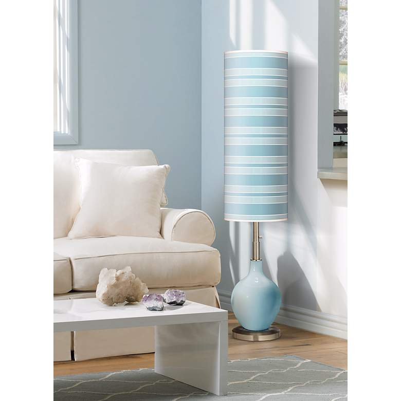 Surfer Blue Ovo Floor Lamp in scene