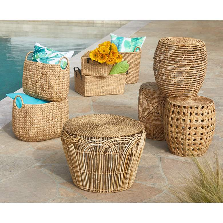 Hyacinth Open-Top 2-Piece Rectangular Basket Set in scene