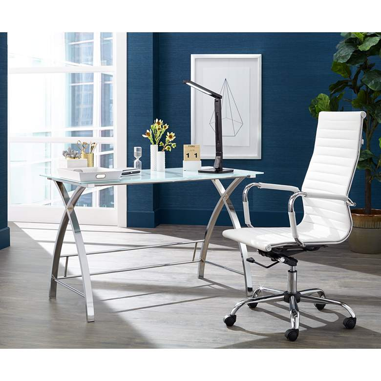 Serge White High Back Swivel Office Chair in scene