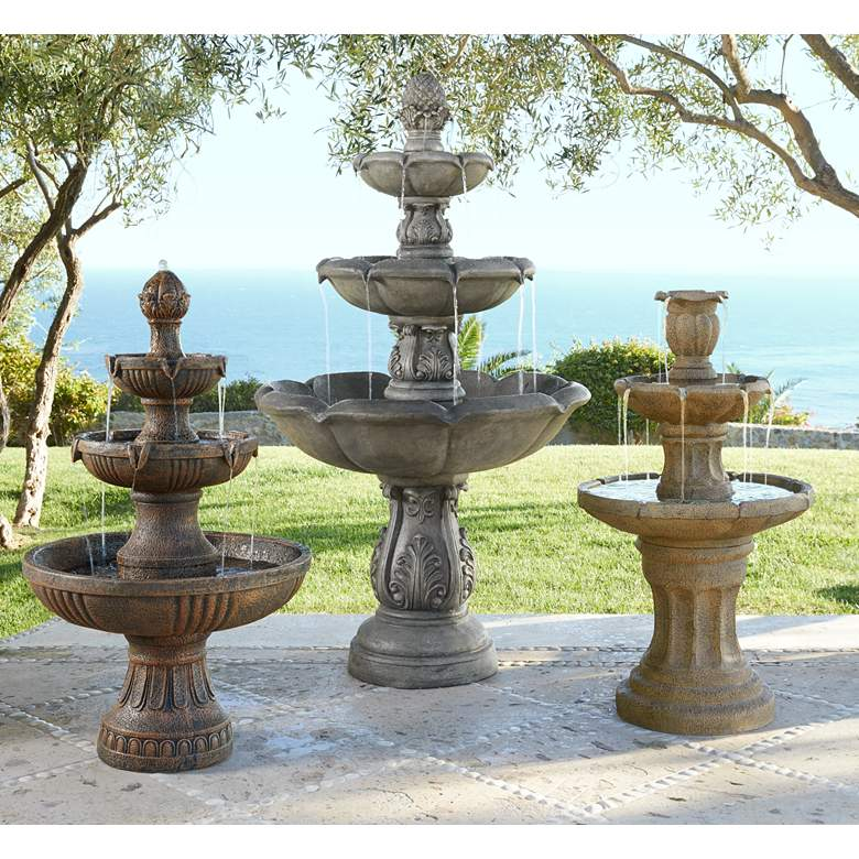 "Ravenna Italian 43"" High Fountain by John Timberland in scene"