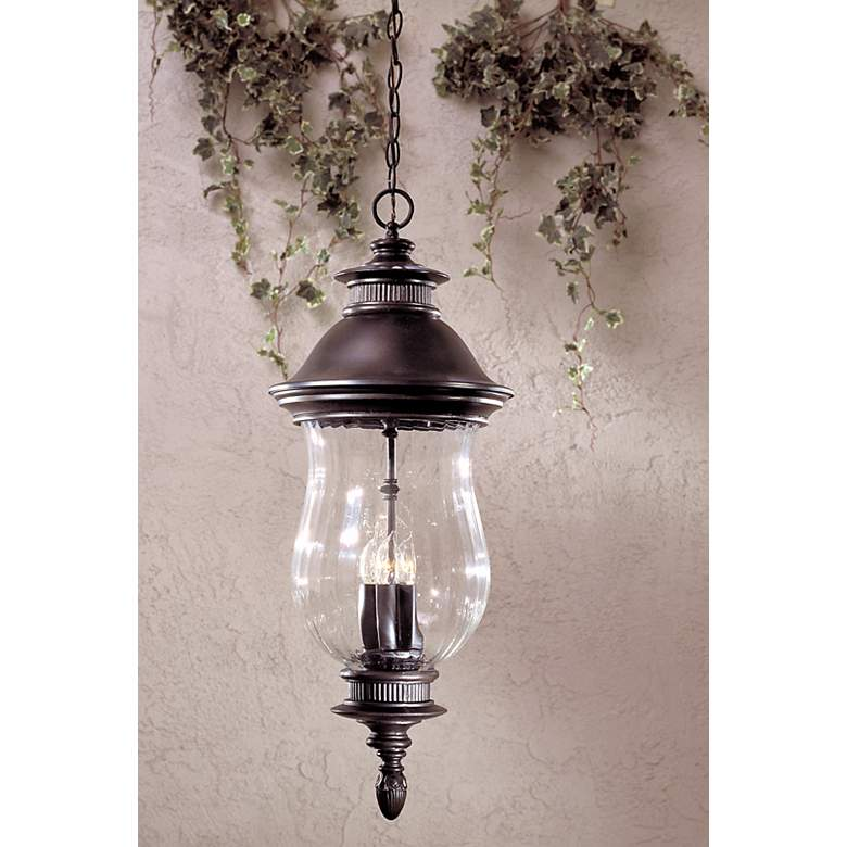 "Newport Collection 30 1/4"" High Outdoor Hanging Lantern in scene"