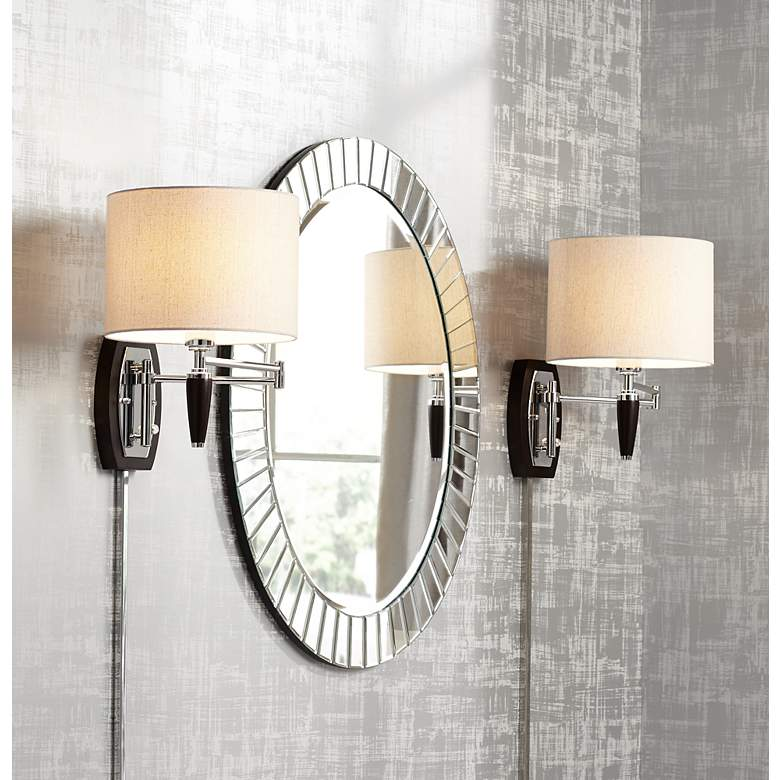 Marca Plug-In Swing Arm Wall Lamp by Possini
