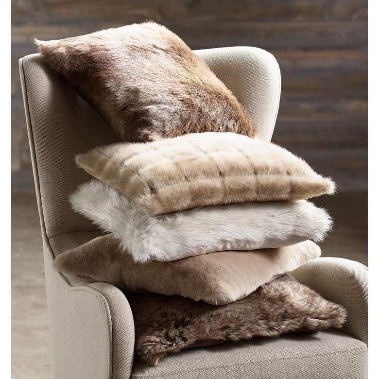 "Chinny Chin 18"" Faux Fur Square Pillow"