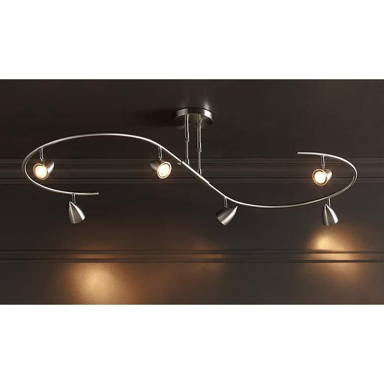 LED Pro Track® Salazar Brushed Nickel S-Wave Track Light in scene