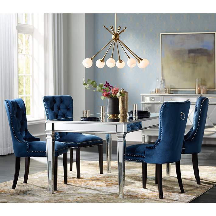 Euphoria Tufted Blue Velvet Dining