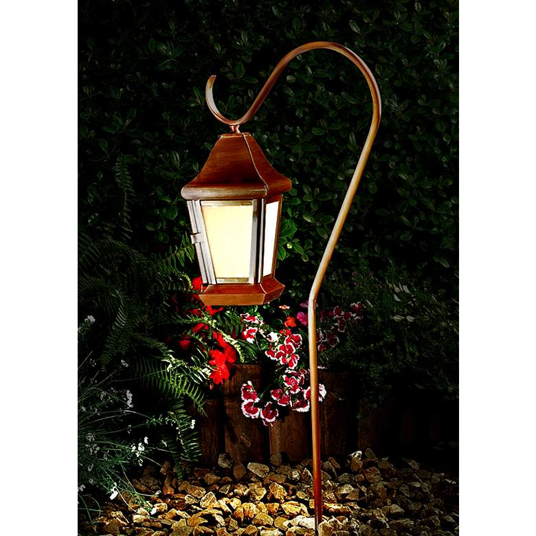 Dabmar Copper Hanging Lantern Path Light