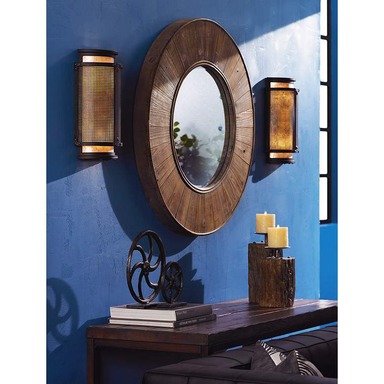 "Copper Mountain Bronze 14"" High Wall Sconce"