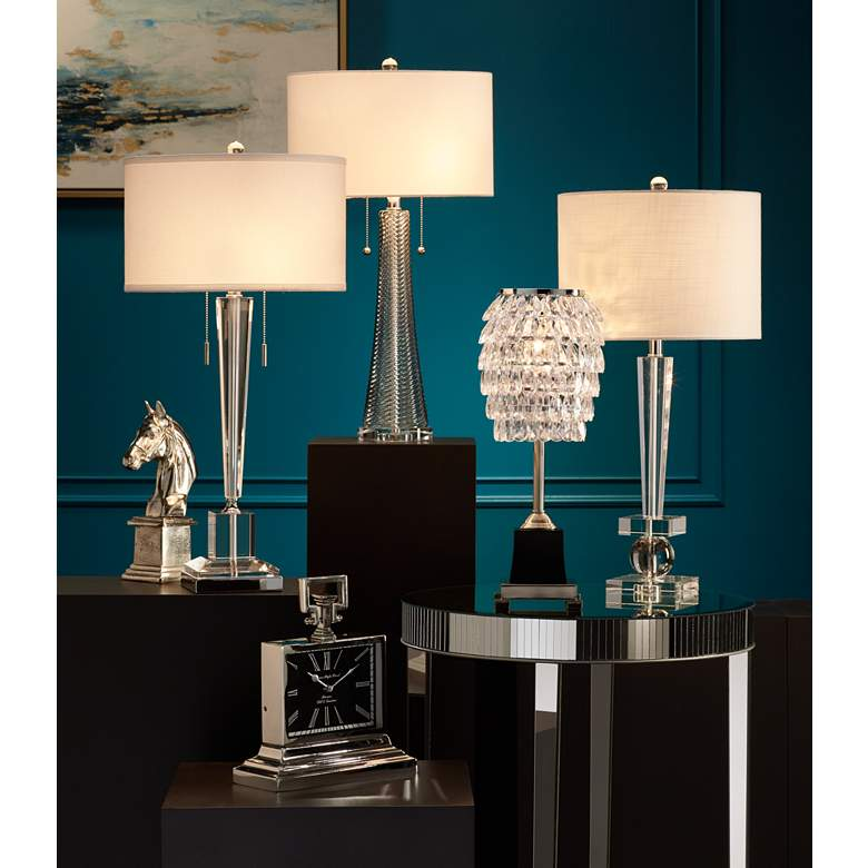 Renee Clear Crystal Glass Table Lamp by Vienna Full Spectrum in scene