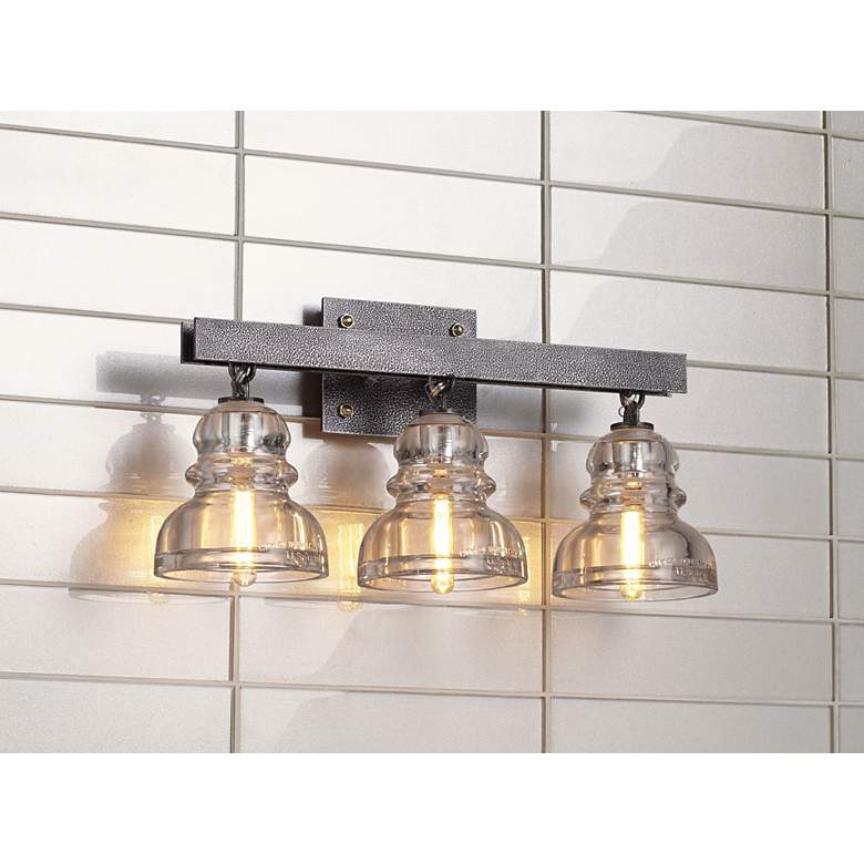 "Menlo Park 20 1/2"" Wide Old Silver Bath Light in scene"