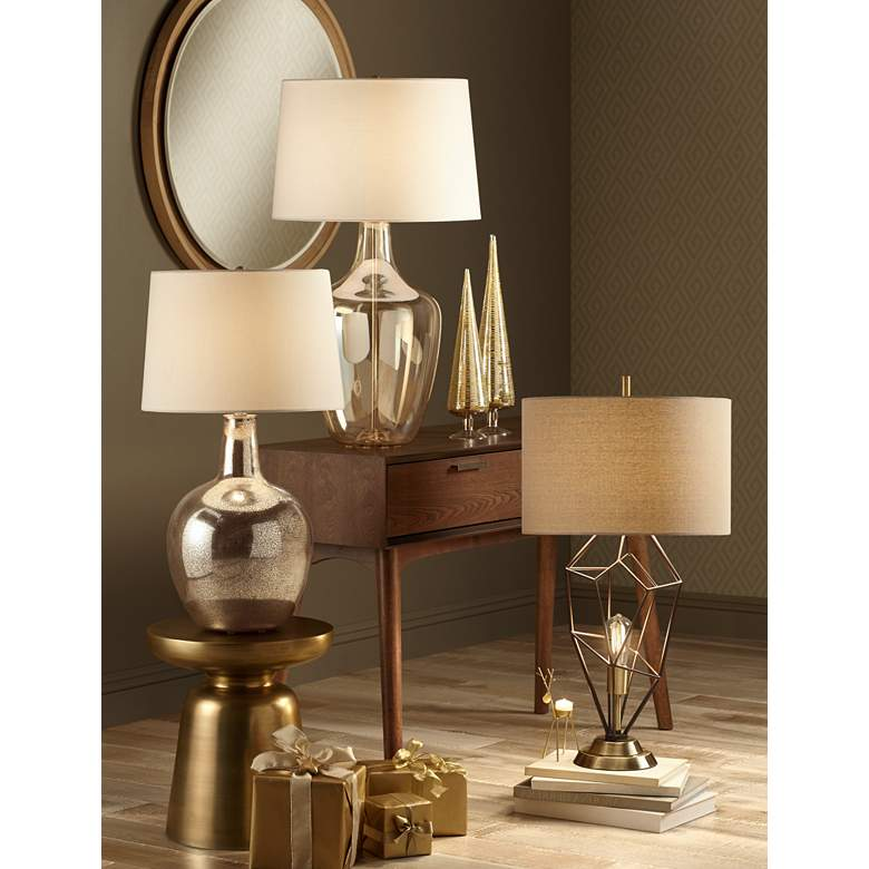 Franklin Iron Works Shane Nightlight Table Lamp in scene