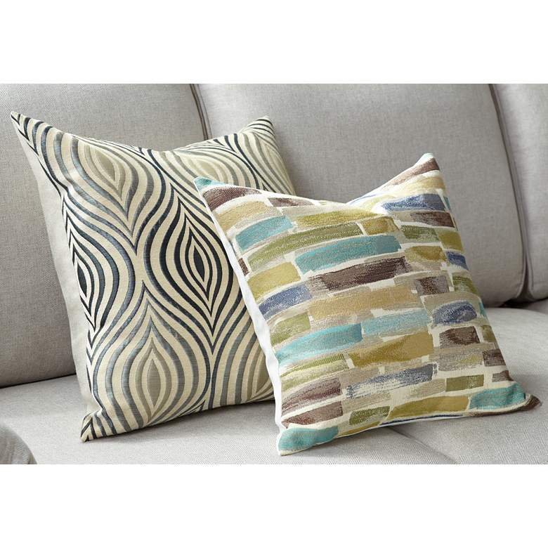 "Paint Strokes 18"" Square Throw Pillow"