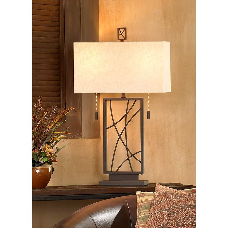 Crossroads Open Base Table Lamp in scene