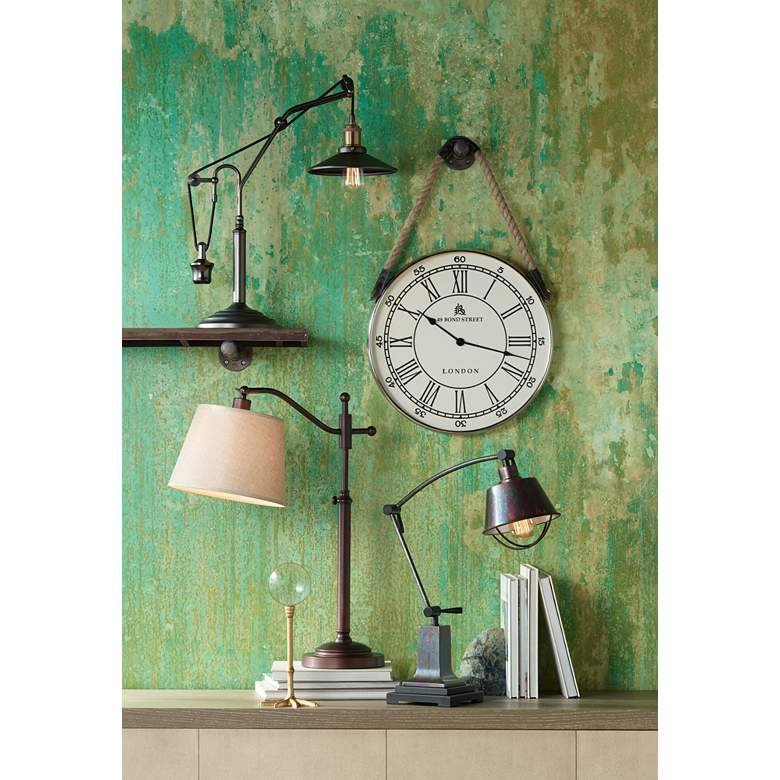 Adley Downbridge Arm Adjustable Desk Lamp in scene
