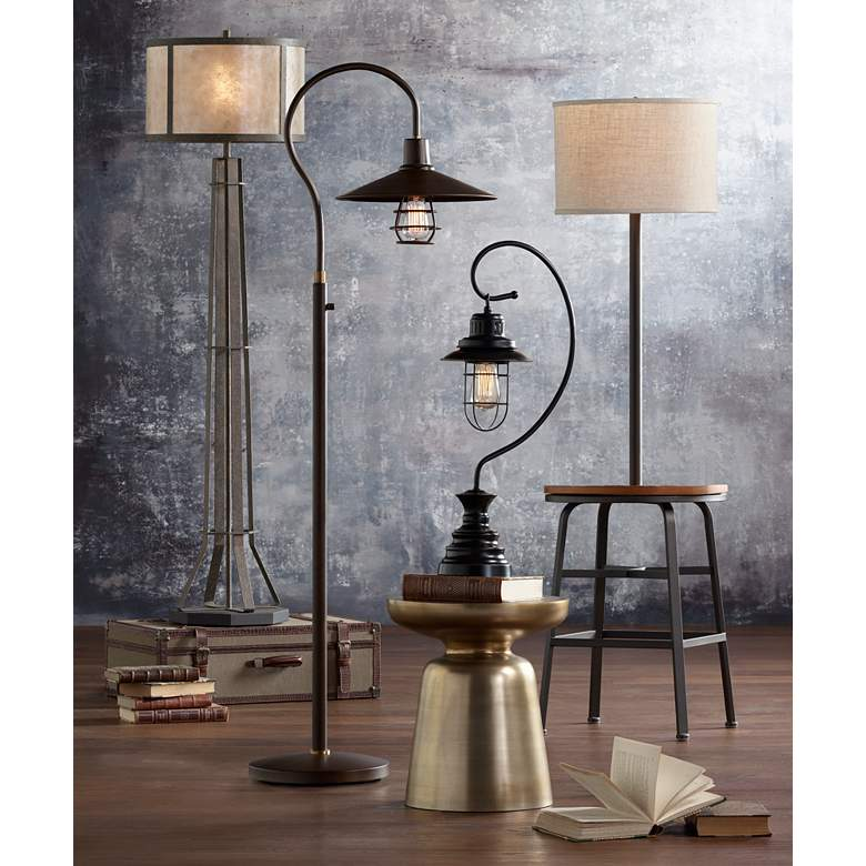Garryton Industrial Oil-Rubbed Bronze Floor Lamp