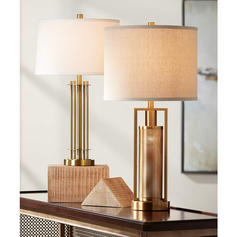 June Brass Metal Table Lamp in scene