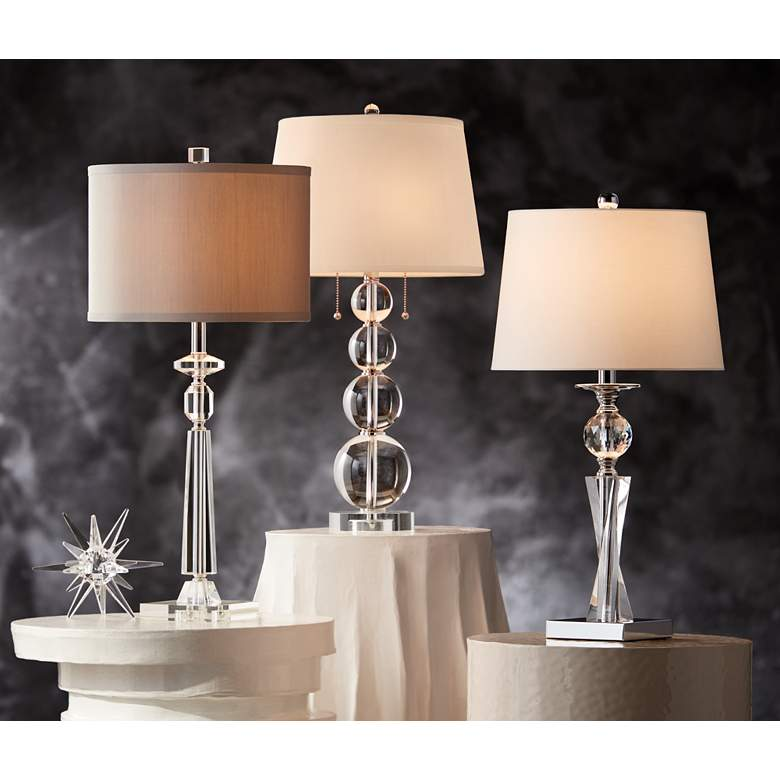 Aline Modern Crystal Table Lamp by Vienna Full