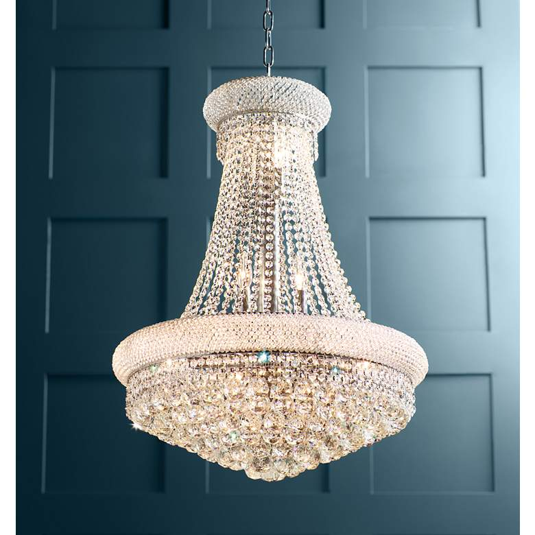 "Primo Collection 24"" Wide Crystal Chandelier in scene"
