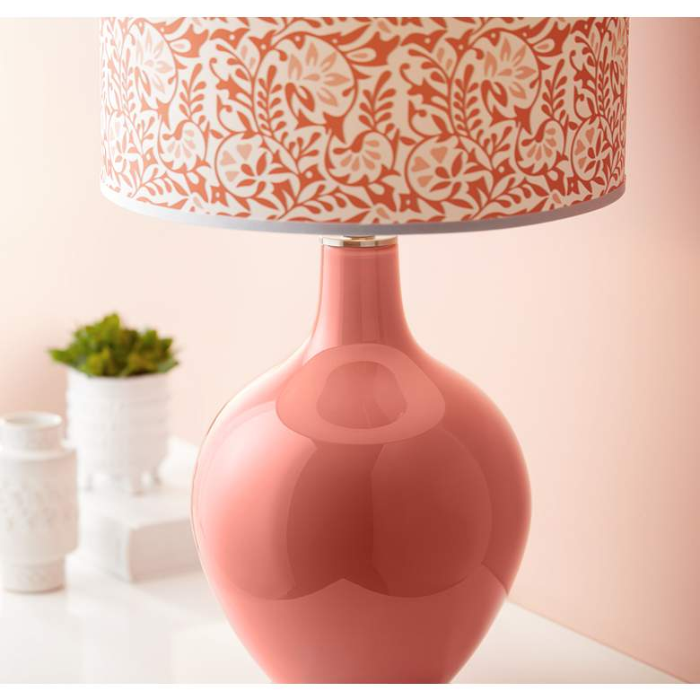Coral Reef Gardenia Ovo Table Lamp