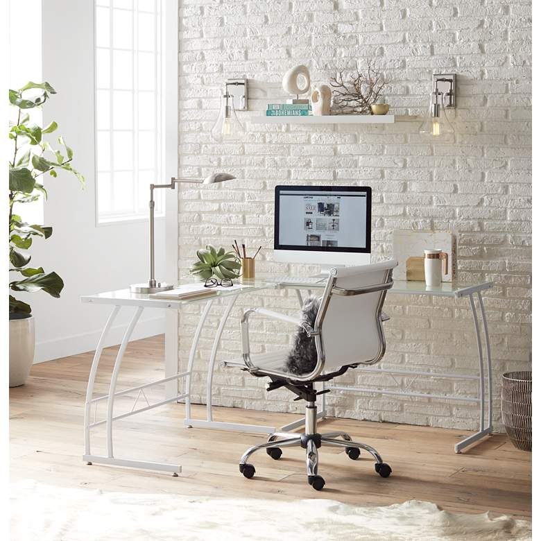 Possini Euro Eliptik LED Swing Arm Desk Lamp