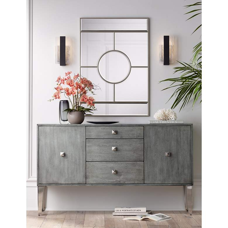 "Nadine 60 1/4"" Wide 2-Door 3-Drawer Modern Credenza in scene"
