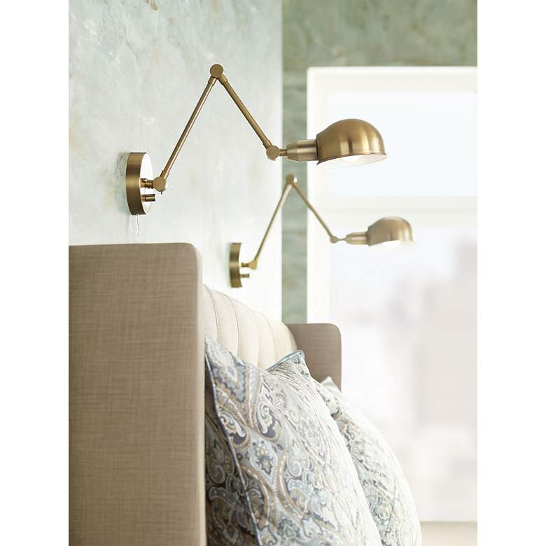 Somers Antique Brass LED Wall Lamp Set of
