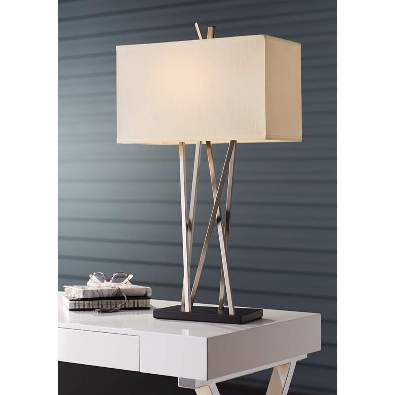 Possini Euro Design Asymmetry Table Lamp in scene