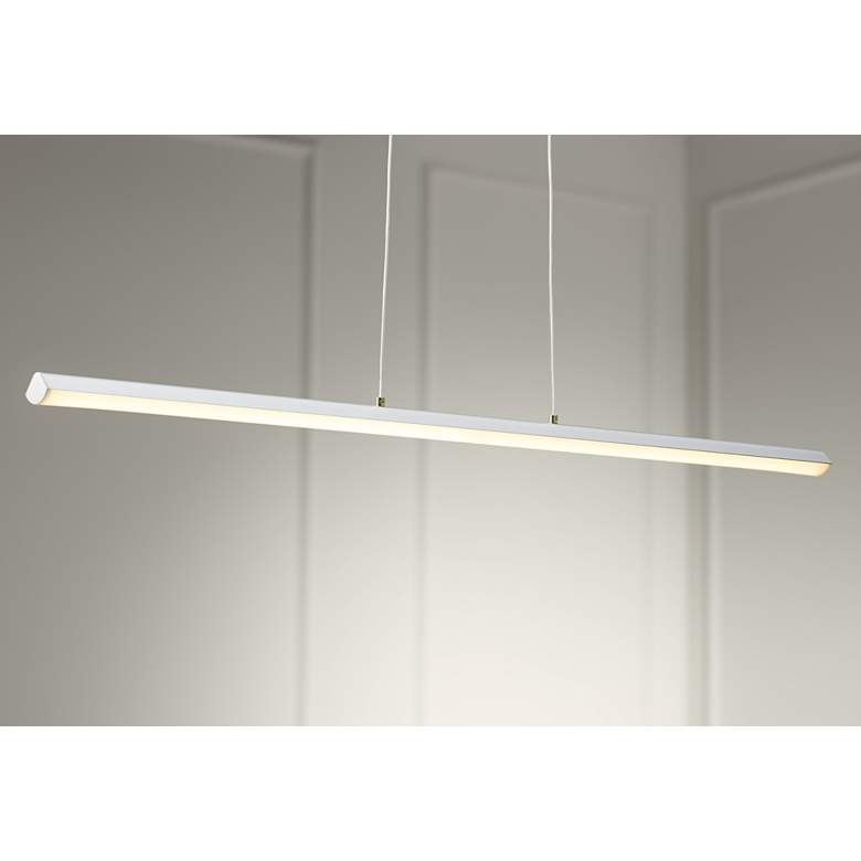 "Float 36"" Wide Silver LED Kitchen Island Light"