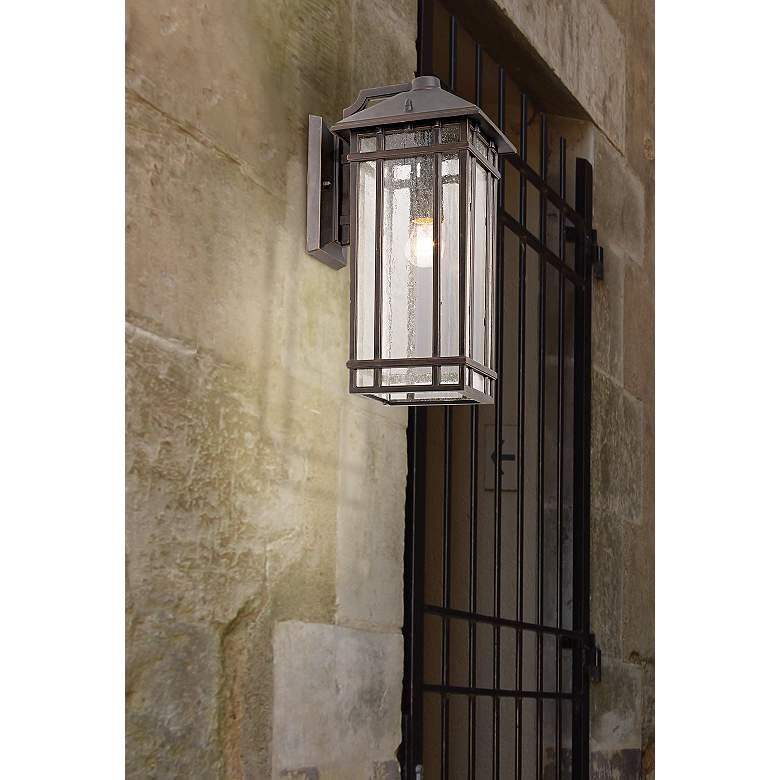 "J du J Sierra Craftsman 16 1/2"" High Outdoor Wall Light in scene"