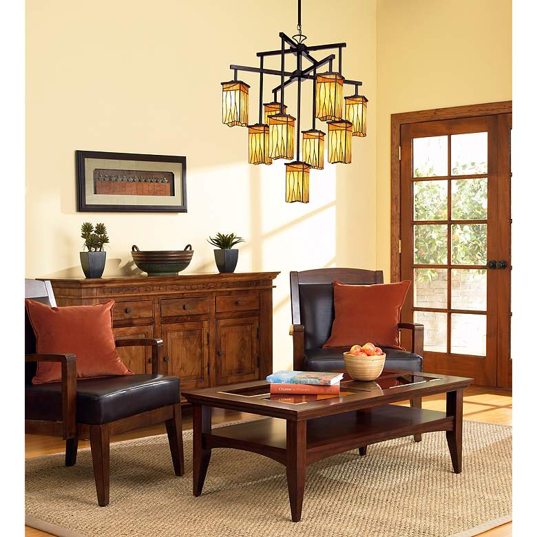 "Sedona Collection 32 1/2"" Wide 9-Light Art Glass Chandelier in scene"
