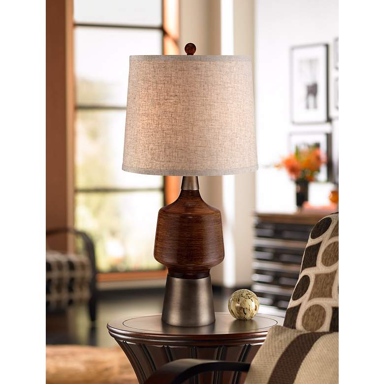 Northcrest Mid Century Table Lamp in scene