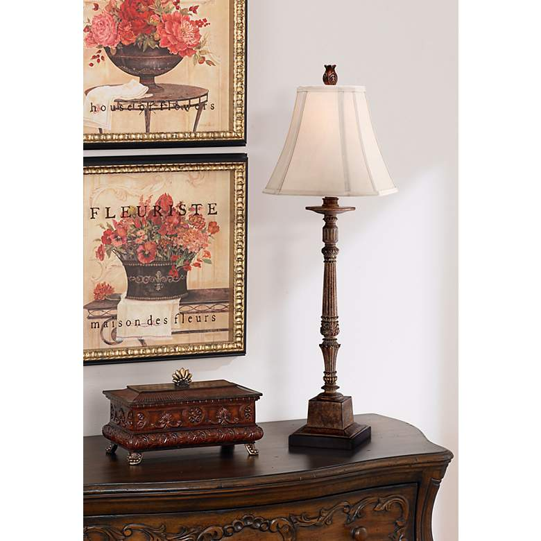 Thornewood Brown Traditional Console Table Lamp in scene