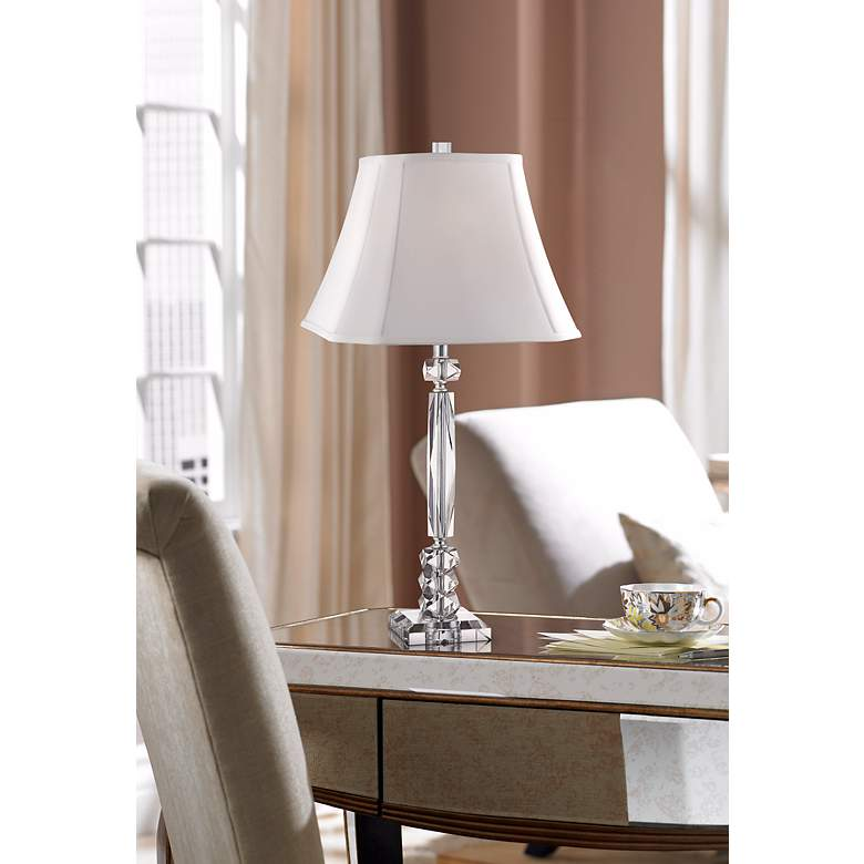 Mitzie Cut Crystal Column Table Lamp by Vienna