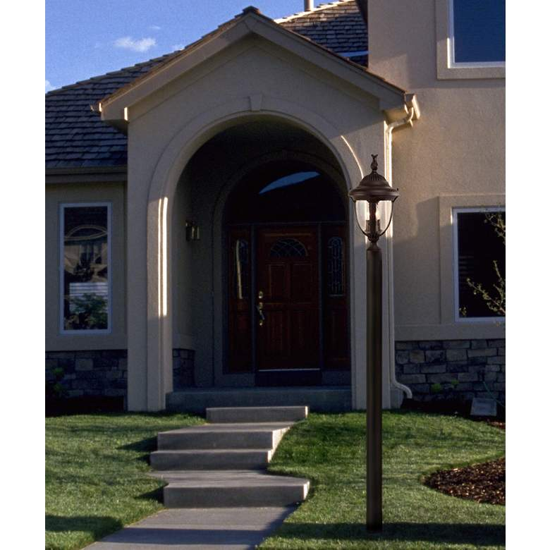 "Casa Sierra™ Collection 19 1/2"" High Post Light in scene"