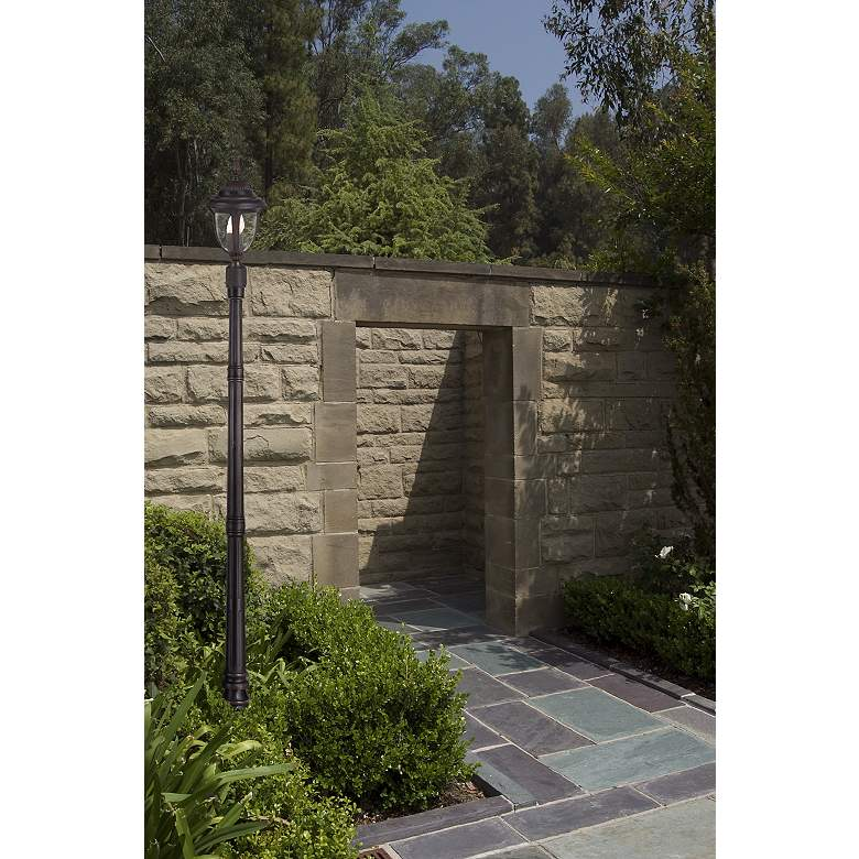 "Casa Sierra™ Collection 19 1/2 "" High Post Mount in scene"