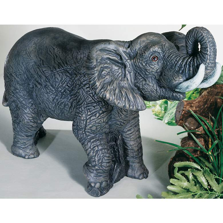 "Henri Studio Elephant 20"" High Outdoor Garden Accent in scene"