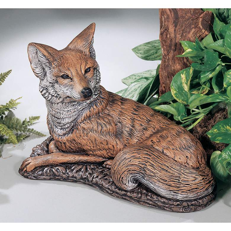 "Henri Studio Fox 23"" Wide Cast Stone Garden Accent in scene"