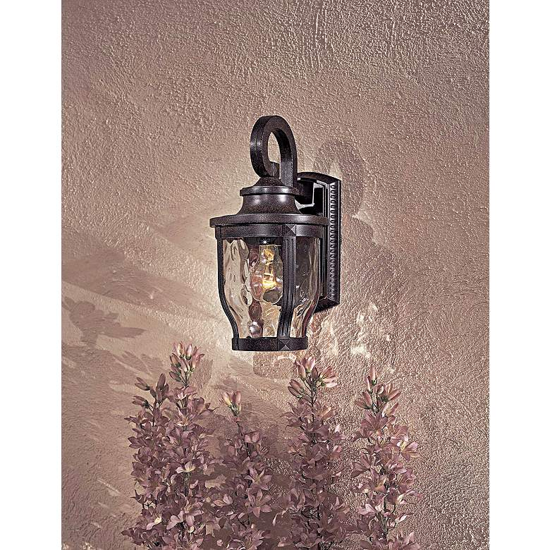 "Merrimack Collection 12 1/4"" High Outdoor Wall Light in scene"