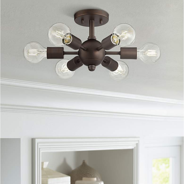 Bestla Bronze 6-Light Ceiling Light with 4W Globe