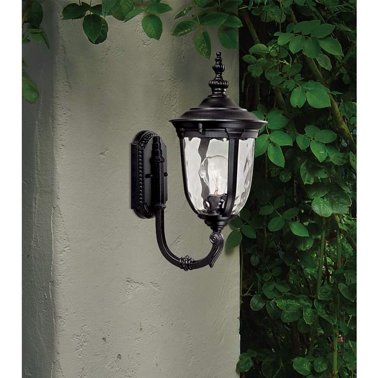 "Bellagio 16 1/2"" High Black Upbridge Arm Outdoor"