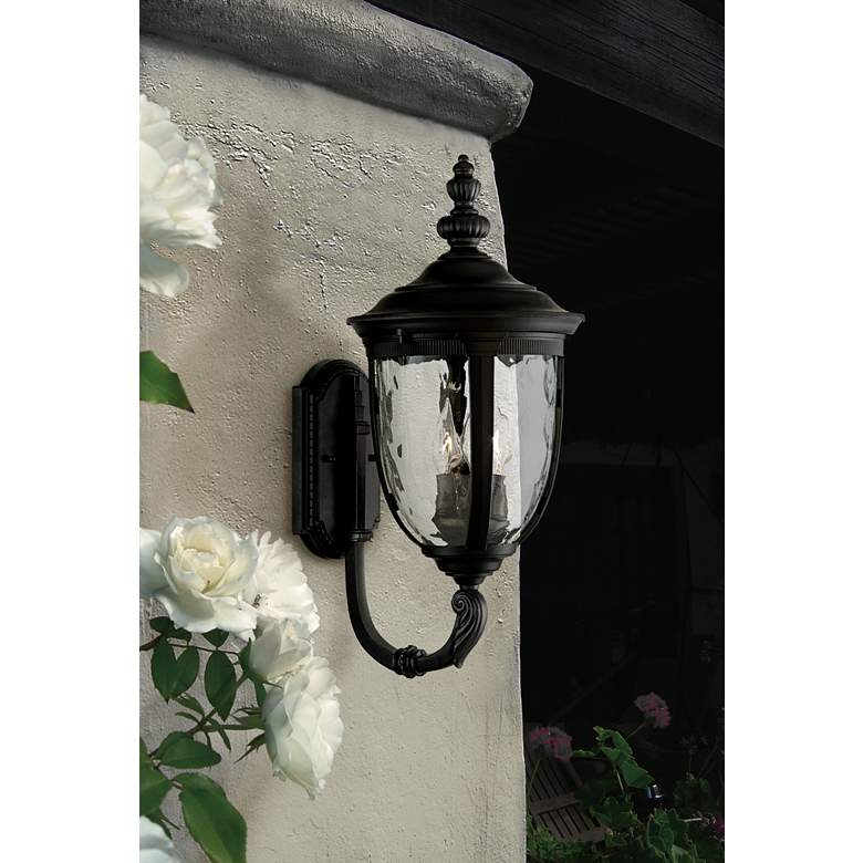 "Bellagio 21"" High Black Upbridge Outdoor Wall Light"