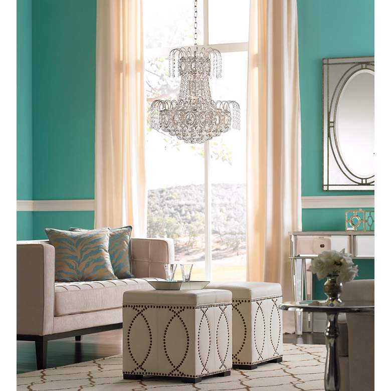 "Moira 19"" Wide Crystal Chandelier"