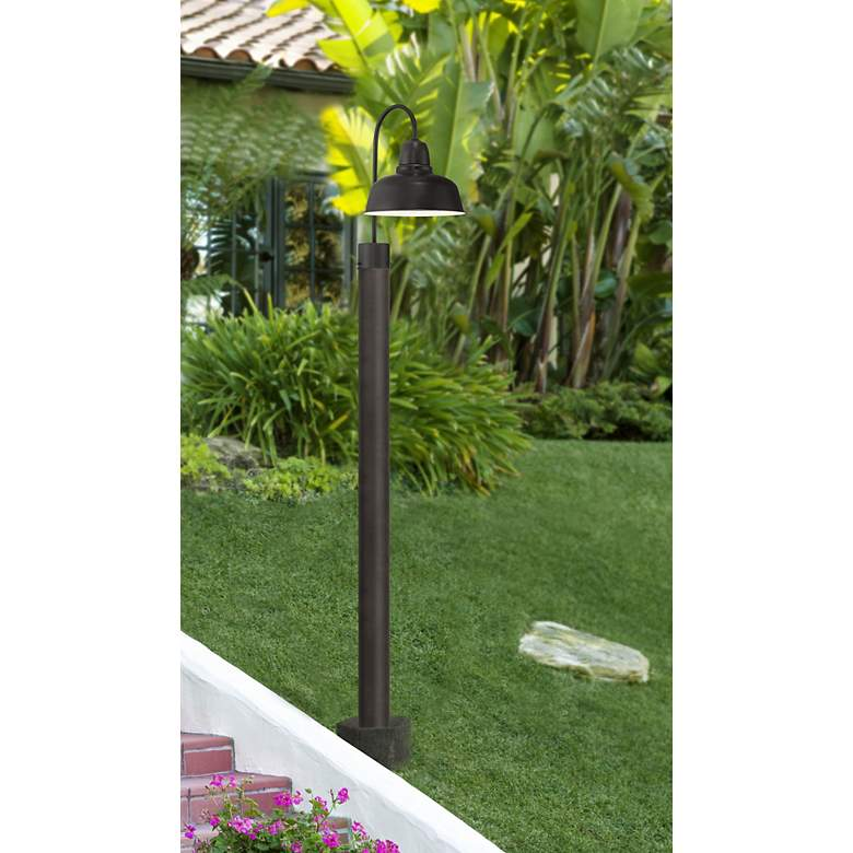 "Urban Barn Collection 15 3/4"" High Bronze Outdoor Post Light in scene"