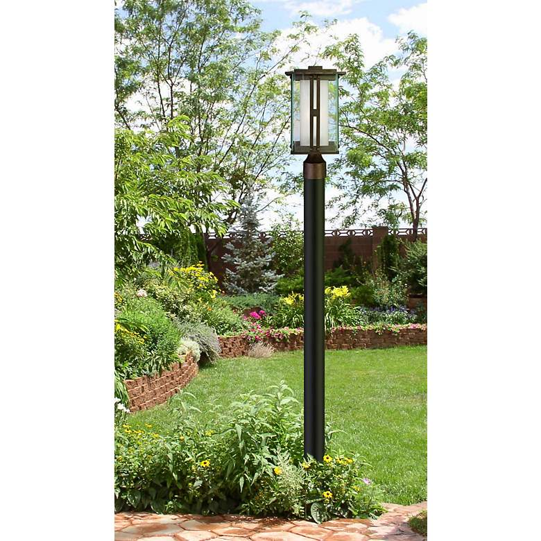 "Fallbrook Collection 15 3/4"" High Bronze Outdoor Post Light in scene"