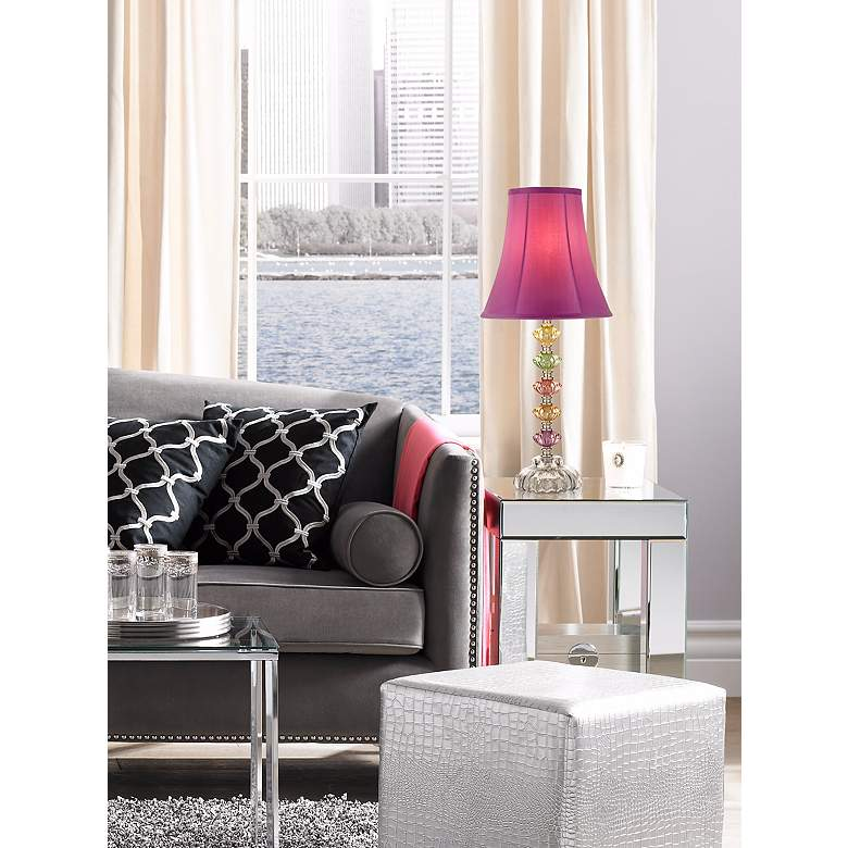 Bohemian Orchid Stacked Glass Table Lamp