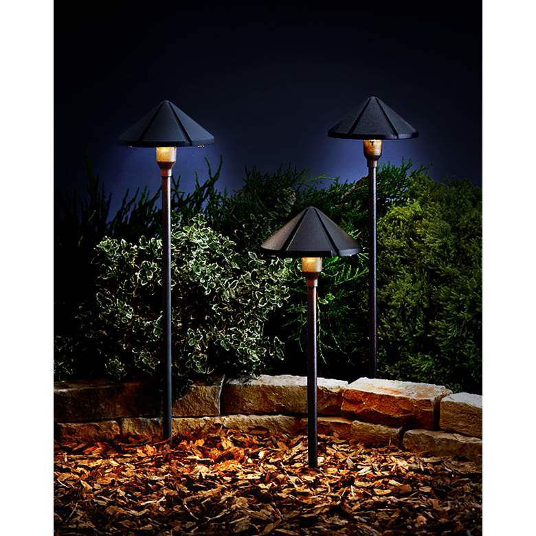 Kichler Architectural Bronze Cone Landscape Light in scene