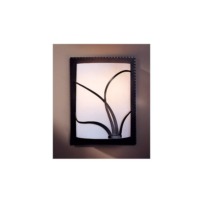 Hubbardton Forge Right Face Reed Sconce in scene