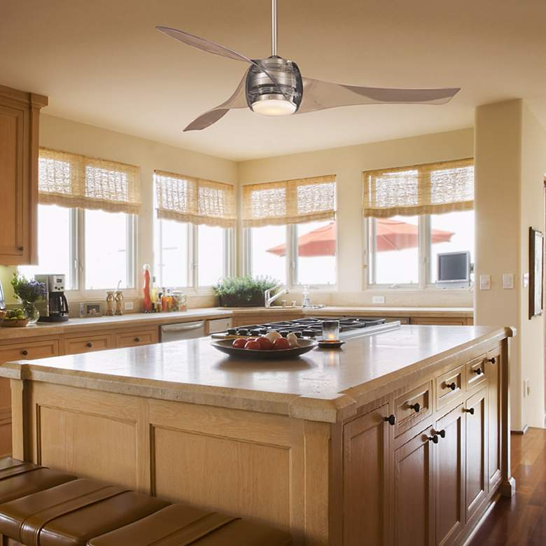 "58"" Artemis Translucent Ceiling Fan in scene"