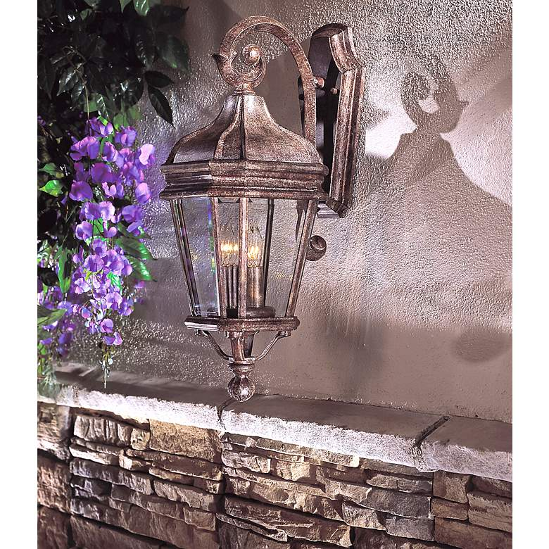 "Harrison™ Series 21"" High Outdoor Wall Light in scene"